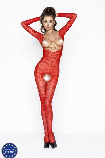 Passion Мираж, красный Кэтсьют с открытой грудью популярные товары для взрослых passion 660