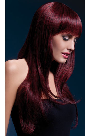 Fever Sienna Wig Black Cherry Парик, с длинными волосами клавиатура asus strix tactic pro cherry mx black black usb 90yh0081 b2ra00