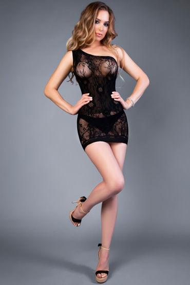 Le Frivole Impulse Платье, черное С бретелью на одно плечо le frivole снежная королева платье с капюшоном