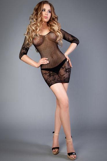 Le Frivole Impulse Платье, черное С цветочным рисунком le frivole снежная королева платье с капюшоном