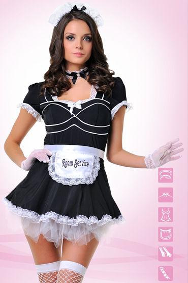Le Frivole Служанка Платье с фартуком, перчатки, чулки и аксессуары le frivole ведьмочка платье с накидкой шляпа и чулки