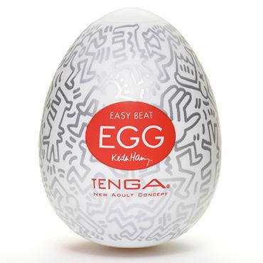 Tenga Egg Party, Keith Haring Edition Одноразовый мастурбатор в виде яйца, лимитированный выпуск набор мастурбаторов tenga egg ii