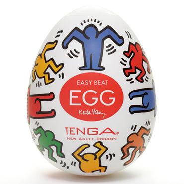 Tenga Egg Dance, Keith Haring Edition Одноразовый мастурбатор в виде яйца, лимитированный выпуск презервативы unilatex ultra thin 3 ультратонкие