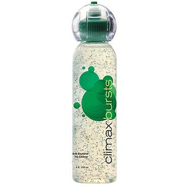 Topco Climax Bursts Antibacterial Toy Cleaner, 118 мл Антибактериальное средство для чистки игрушек с витамином E презервативы no 10 condoms