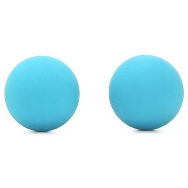 Doc Johnson Silicone Ben Wa Balls, голубые Силиконовые шарики для тренировки мышц влагалища zadok ben david