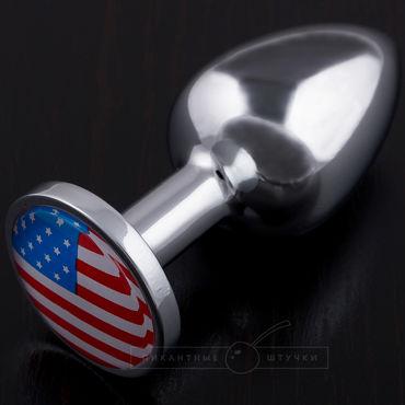 Пикантные штучки Маленькая анальная пробка С изображением флага США где можно джинсы с принтом флага сша