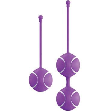 LoversPremium O-balls Set, фиолетовый Набор вагинальных шариков со смещенным центром тяжести х loverspremium o pal selene фиолетовый