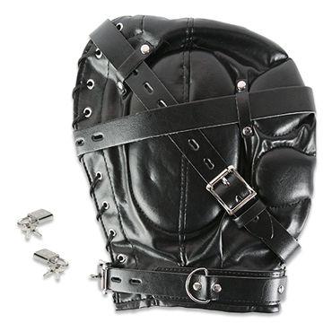Пикантные штучки БДСМ-маска закрытая С маленьким отверстием пикантные штучки удлиненный ошейник с кольцом
