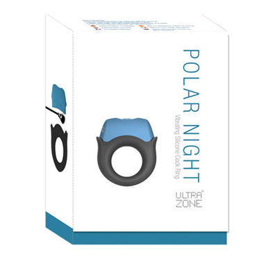 Topco Polar Night Vibrating Silicone Cock Ring - фото 8
