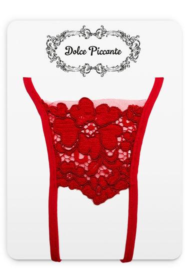 Dolce Piccante Еstasi Открытые трусики Из французского кружева Экрю стринги бикини и трусики танга dolce piccante