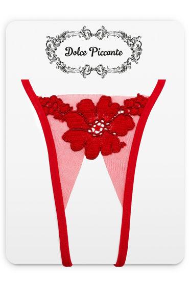 цена  Dolce Piccante Bello Fiore Открытые трусики Из французского кружева Экрю  онлайн в 2017 году
