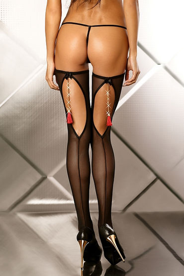Lolitta Boudoir Stockings, черные Чулочки с кисточками ду frivole комбинезон в