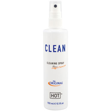 Hot Clean Cleaning Spray, 150 мл Чистящий спрей для игрушек hot ero anal backside spray 50мл спрей для анального секс