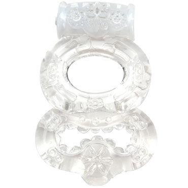 Topco Climax Gems Crystal Ring, прозрачное Эрекционное кольцо с вибрацией erokay her wish розовая насадка на пенис с пупырышками