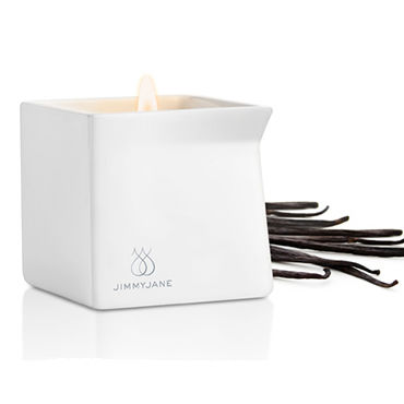 JimmyJane Afterglow Massage Candle Dark Vanilla, 125г Свеча для массажа с ароматом темной ванили shots toys infinity vibrating cockring with dangling ball синее