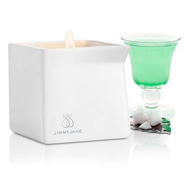 JimmyJane Afterglow Massage Candle Cucumber/Water, 125г Свеча для массажа с ароматом огуречной воды пикантные штучки реалистичный страпон 15 см телесный
