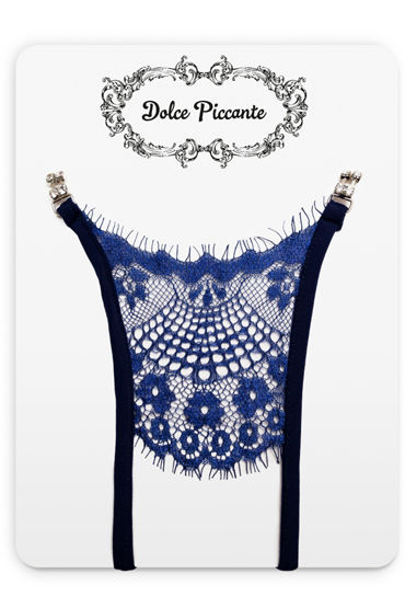 цена  Dolce Piccante Сiglia Открытые трусики, синие Из французского кружева Экрю  онлайн в 2017 году