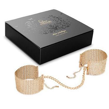 Bijoux Indiscrets Desir Metallique, золотые Дизайнерские наручники womanizer pro черный леопардовый