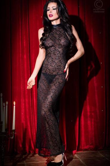 Chilirose Длинная сорочка С цветочным узором силиконовый анальный лубрикант erotic fantasy la soie lisse anal 30 мл