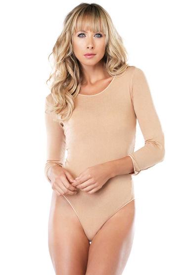 Leg Avenue Long Sleeved Bodysuit, бежевый Боди с длинными рукавами и оковы и кандалы материал abs пластик