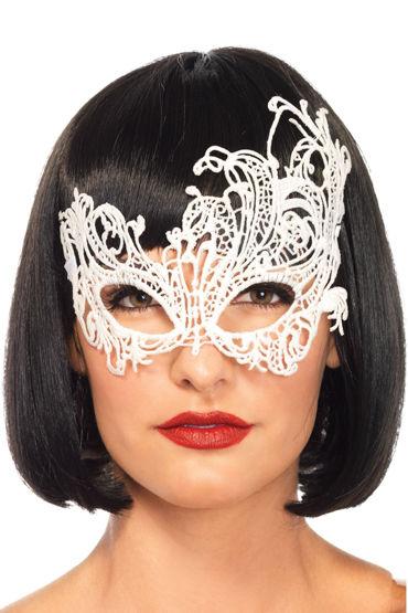 Leg Avenue Darling, белая Ассиметричная маска на глаза