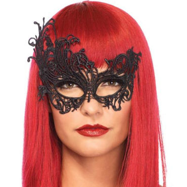 Leg Avenue Darling, черная Ассиметричная маска на глаза венецианская маска diavolo swarovski