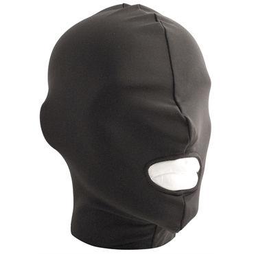 Mister B Lycra Hood Mouth Open Only, черная Маска на голову с прорезью для рта