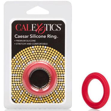 California Exotic Caesar Silicone Ring, красное Эрекционное кольцо классическое эрекционное вибро кольцо renegade man s ring черное