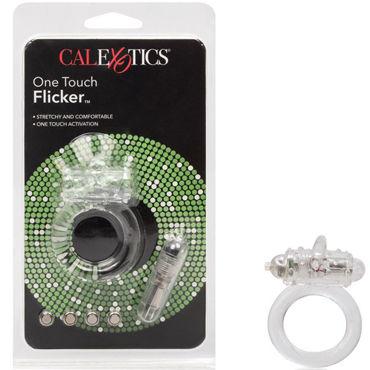 California Exotic One Touch Flicker, прозрачное Эрекционное кольцо с вибрацией