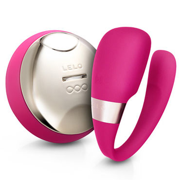 Lelo Tiani 3, розовый Усовершенствованный вибромассажер для пар, с дистанционным управлением тестер lelo alia мощный водонепроницаемый массажер