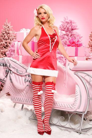 Leg Avenue Санта Красное атласное платье leg avenue комбинация со шнуровкой и бантом
