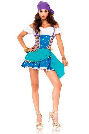 Leg Avenue Цыганская принцесса Яркое мини-платье и платок на голову leg avenue corset review
