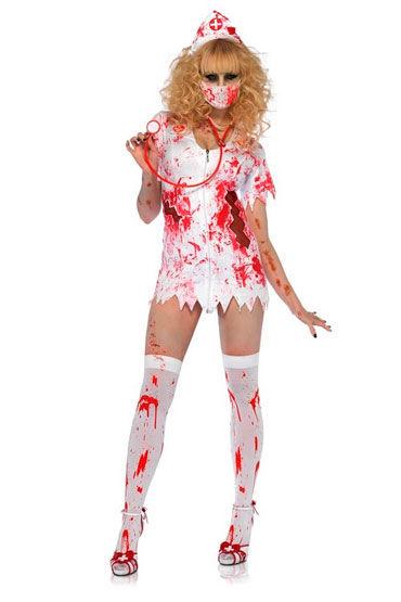 Leg Avenue Кровавая Бэтти С медицинской маской и чепчиком leg avenue far out hippie 3 в 1