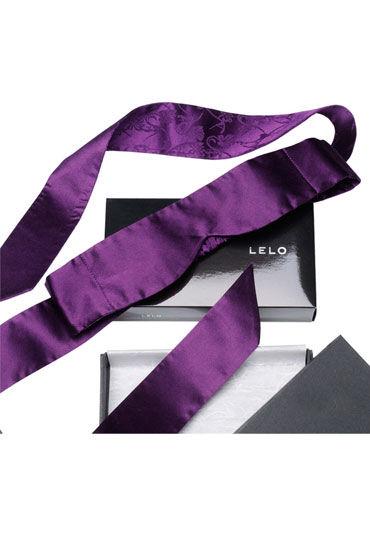 Lelo Intima, фиолетовый Шелковая маска, регулируемого размера