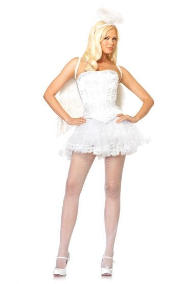 Leg Avenue корсет, белый Элегантный дизайн leg avenue corset review