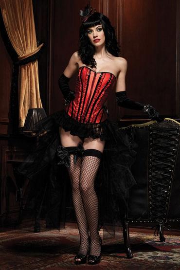 Leg Avenue Бэтти Сексуальный корсет красно-черного цвета leg avenue корсет