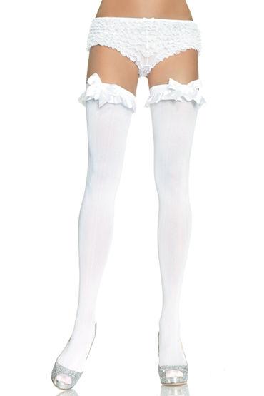 Leg Avenue чулки Непрозрачные, с бантиком leg avenue distressed телесные с неравномерным переплетением нитей