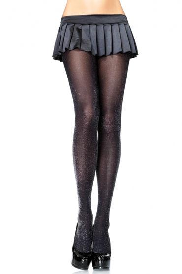 Leg Avenue колготки, черные Блестящие leg avenue колготки телесно черные с задорным узором усы