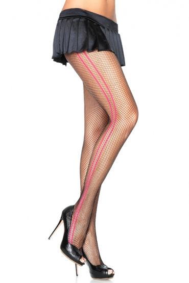 Leg Avenue колготки С яркими полосками по бокам страпоны fun factory