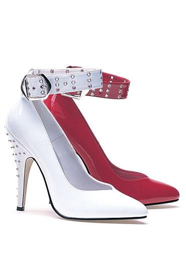Ellie Shoes Anita, красный Туфли с заклепками, каблук 12,7 см pipedream chain o pain флоггер с металлическими цепочками