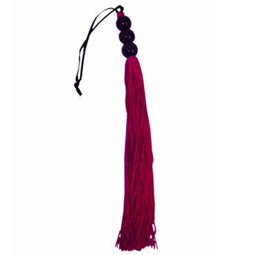 Sex  Mischief Medium Whip, красный C латексными хвостами, 35 см
