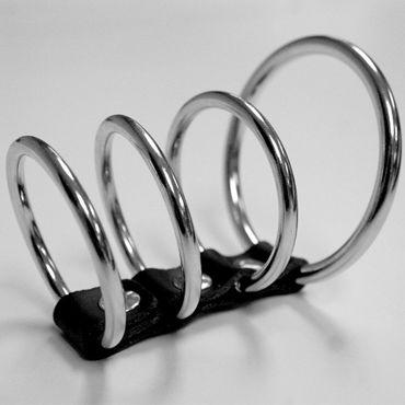 Sex & Mischief Ring Cock Cage Четыре соединенных кольца гель смазка flutschi original 200 мл