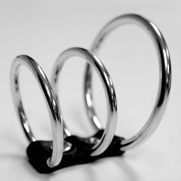 Sex  Mischief Ring Cock Cage Три соединенных кольца