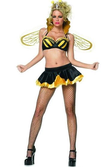 Leg Avenue Королева Пчелка Бюстгальтер, юбка, корона и крылья leg avenue пчелка сексуальное платье с крылышками и рожки размер m l