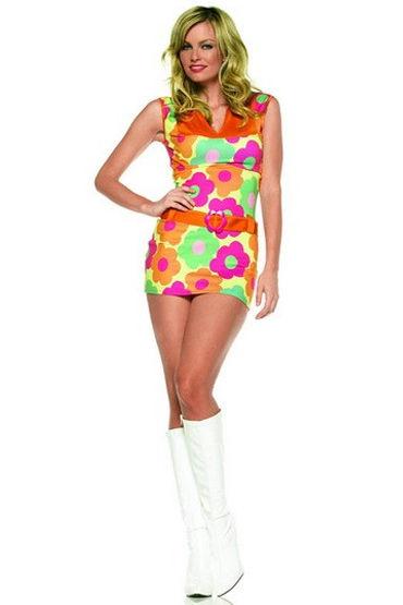 Leg Avenue Принцесса Цветов Яркое платье с поясом