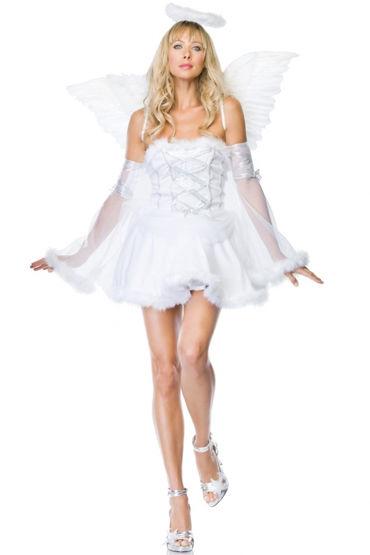 Leg Avenue Небесный ангел Платье с лентами и прозрачные нарукавники