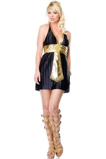 Leg Avenue Богиня Нила Платье с поясом и украшение на голову leg avenue чулки матовые со шнуровкой