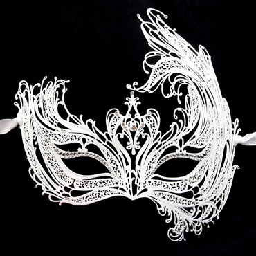 Luna Veneziana Maddalena Венецианская маска с кристаллами Swarovski у luna veneziana ornata