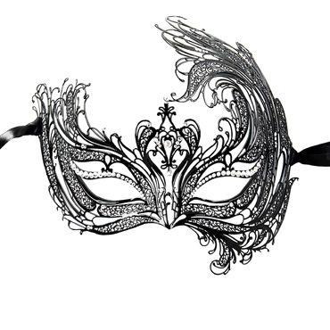 Luna Veneziana Catia Венецианская маска с кристаллами Swarovski у luna veneziana ornata