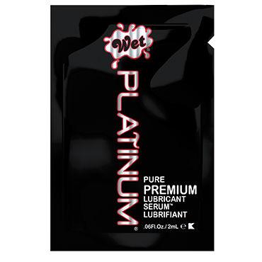 Wet Platinum, 2 мл Густой силиконовый лубрикант гель лубрикант wet fun flavors 4 в 1 tropical fruit explosion 316 мл 10 7 oz